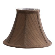 Elstead LS150 | Clip Shades Brown Silk Effect Candel Shade