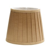 Elstead LS160 | Clip Shade Pleated Coffee Candle Shade