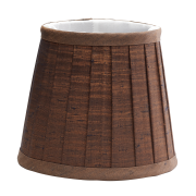 Elstead LS161 | Clip Shade Pleated Chocolate Candle Shade