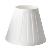 Elstead LS162 WHT | Clip Shades Pleated White Candle Shade