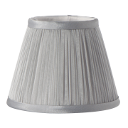 Elstead LS200 | Clip Shades Pleated Grey Chiffon Candle Shade