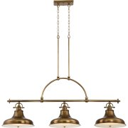 Elstead QZ/EMERY3P WS | Emery 3 Light Island Chandelier - Weathered Brass