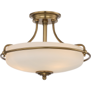 Elstead QZ/GRIFFIN/SFSWS | Griffin 3 Light Semi-Flush Light - Weathered Brass