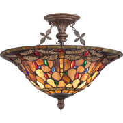 Elstead QZ/JDRAGONFLY/SF | Jewel Dragonfly 3 Light Extra Large Semi Flush Mount