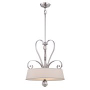 Elstead QZ/MADISONM/P IS | Madison Manor 4 Light Pendant - Imperial Silver