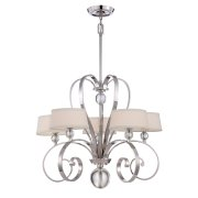 Elstead QZ/MADISONM5 IS | Madison Manor 5 Light Chandelier - Imperial Silver