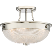 Elstead QZ/MANTLE/SF IS | Mantle 2 Light Semi-Flush - Polished Nickel