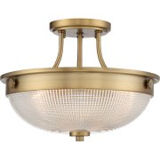 Elstead QZ/MANTLE/SF WS | Mantle 2 Light Semi-Flush - Weathered Brass