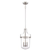 Elstead QZ/PENNSTAT/M BN | Penn Station 3 Light Pendant - Brushed Nickel