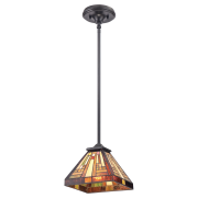 Elstead QZ/STEPHEN/MP | Stephen 1 Light Rod Hung Mini Pendant