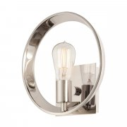 Elstead QZ/THEATERROW1IS | Uptown Theater Row 1 Light Wall Light - Imperial Silver