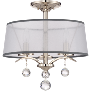 Elstead QZ/WHITNEY/SF | Whitney 3 Light Semi Flush/Pendant