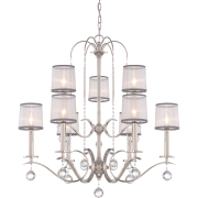 Elstead QZ/WHITNEY9 | Whitney 9 Light Two Tier Chandelier